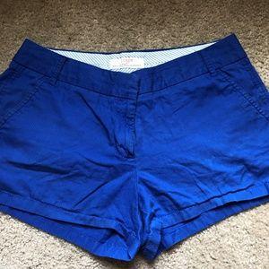 Blue J Crew Chino Shorts Size 10
